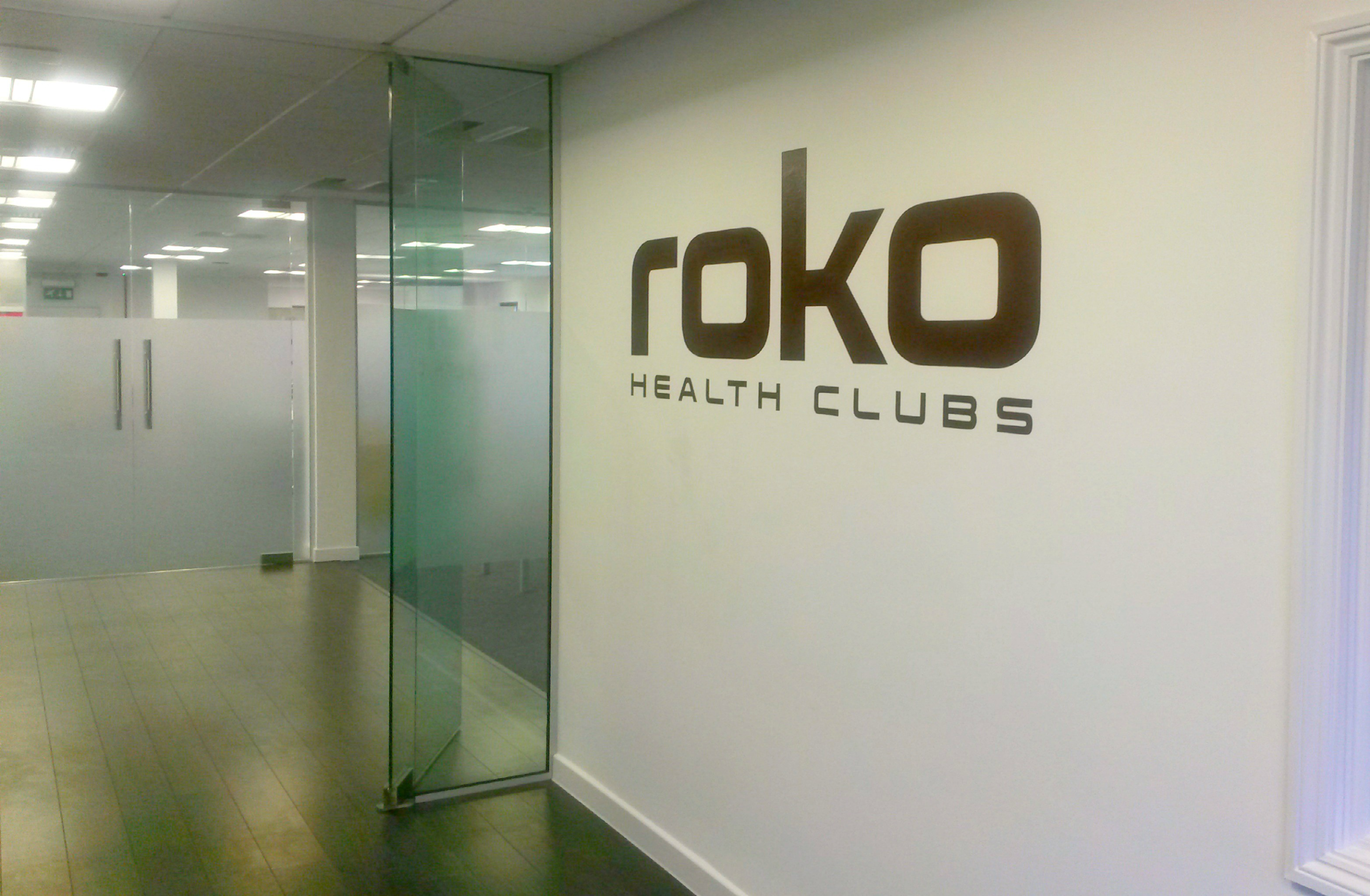 corporate interior wall signwriting