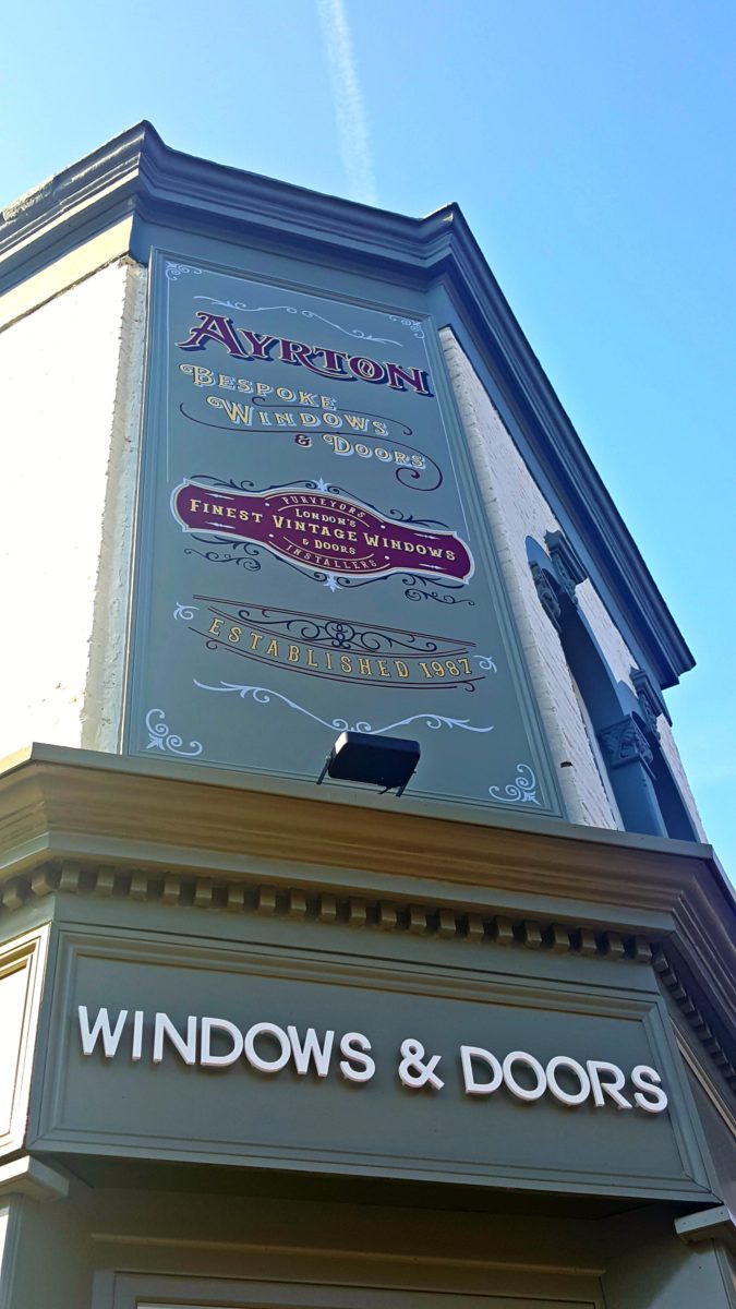 Signwriter London producing a bespoke Victorian style sign