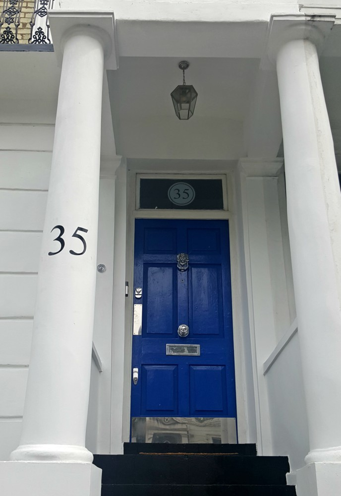 Property numbers hand painted by Traditional Signs of London