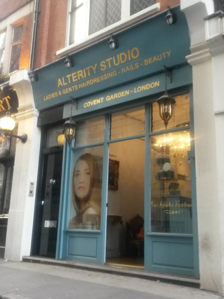 Hairdressing Salon Covent Garden Gold Leaf Gilding