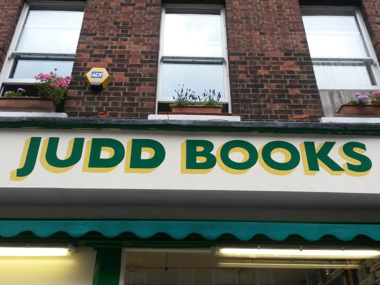 Hand Painted Signwritten Book Shop Fascia